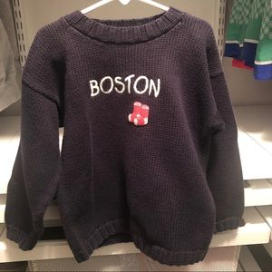 molly goggle Shirts & Tops - Molly Googles Navy Blue Red Sox Sweater
